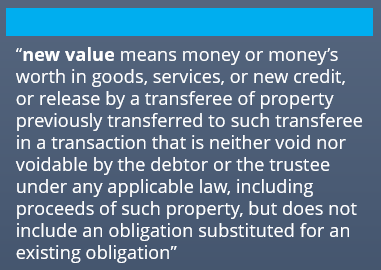 bankruptcy and new value