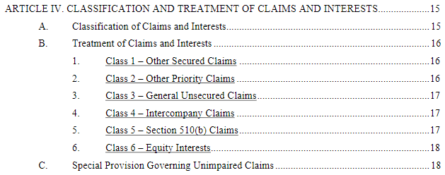 bankruptcy proof of claim 1
