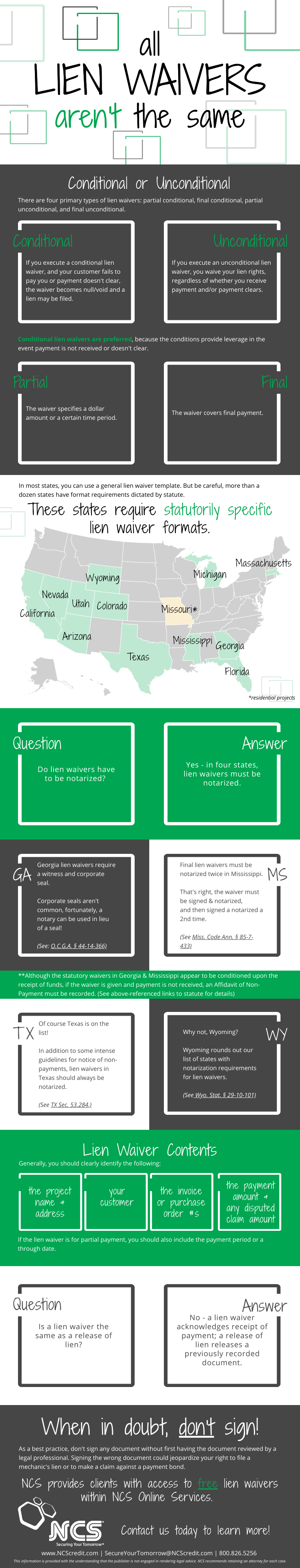 Infographic: All Lien Waivers Aren't the Same